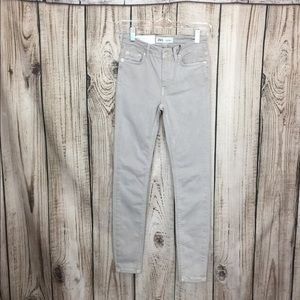 NWT Zara Light Gray Skinny Pants Size 2